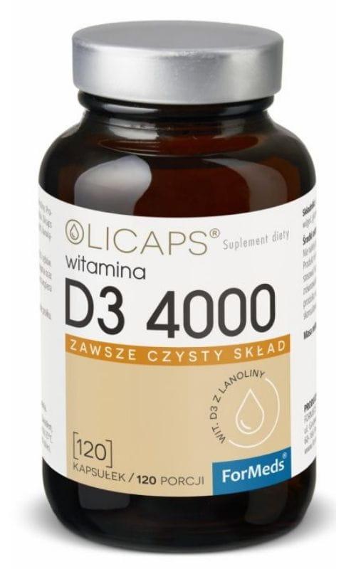 Olicaps Witamina D3 4000 (120 kaps.) w oleju MCT Formeds